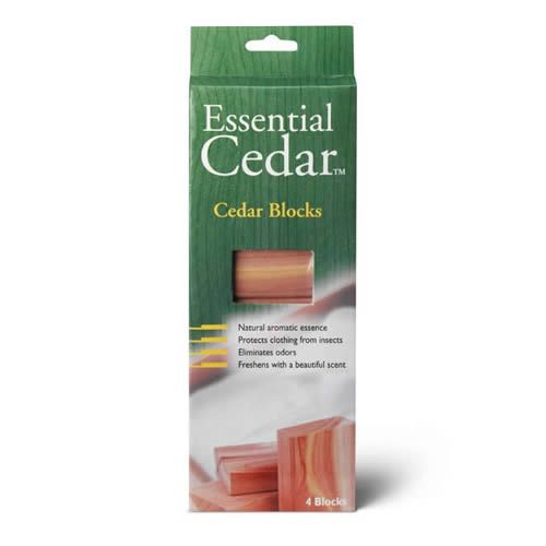 Pack of 4 x Deluxe Woodlore Aromatic Cedar Wood Blocks