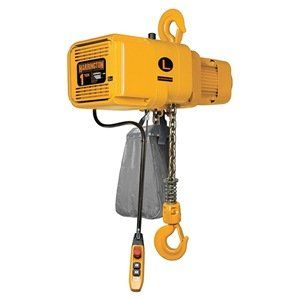 Hoist, Dual Speed, 2 T, Lift 20 ft, 14 fpm by Harrington. $4471.04. NER Chain HoistsElectric Chain HoistsDesigned to handle heavy- and severe-duty applications. Single-speed duty cycle is 60 min. Variable-speed duty cycle is 30/10 min. with under-the-cover variable frequency drive with 2-step infinitely variable control and speed ratio of 6:1, adjustable up to 12:1. Include smart brake technology. Electromagnetic brake Grade 80 nickel-plated steel chain Meet ASME ...