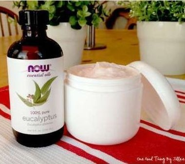 How to Make Your Own Antibacterial Moisturizing Lotion That Will Not Only Fight Against Dry, Cracked Skin But Also Kills Bacteria and Some Viruses and Fungi. -- 16 oz baby lotion - 8 oz coconut oil - 8 oz vitamin E cream To give your lotion an antibacterial edge, just add 10 drops of eucalyptus essential oil to 4 ounces of lotion. I filled the original 8 ounce Vitamin E Cream container and added 20 drops of eucalyptus essential oil.