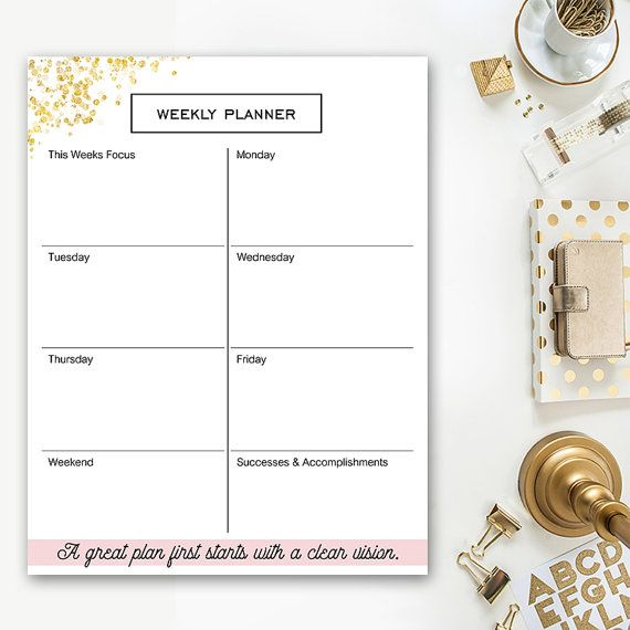 Best 25+ Weekly planner template ideas on Pinterest Planner - weekly itinerary template