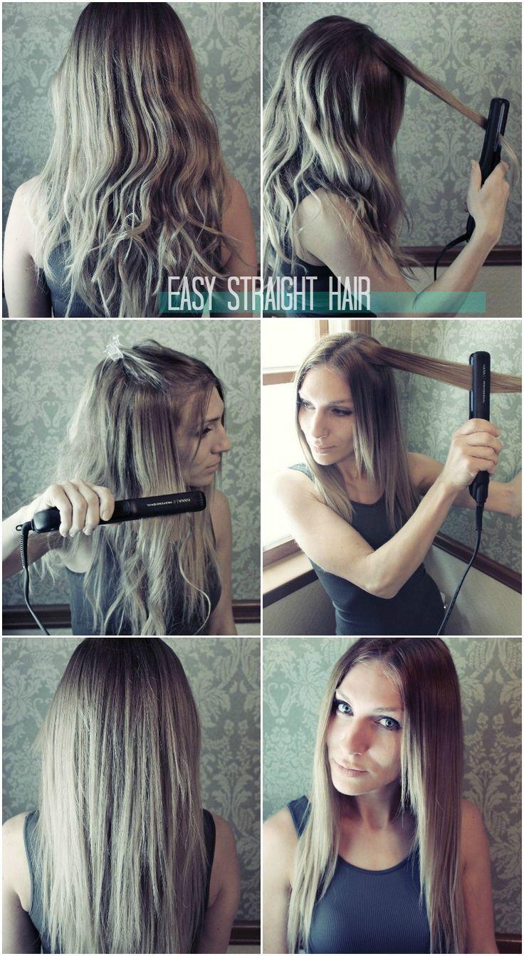 EASY straight hair tutorial