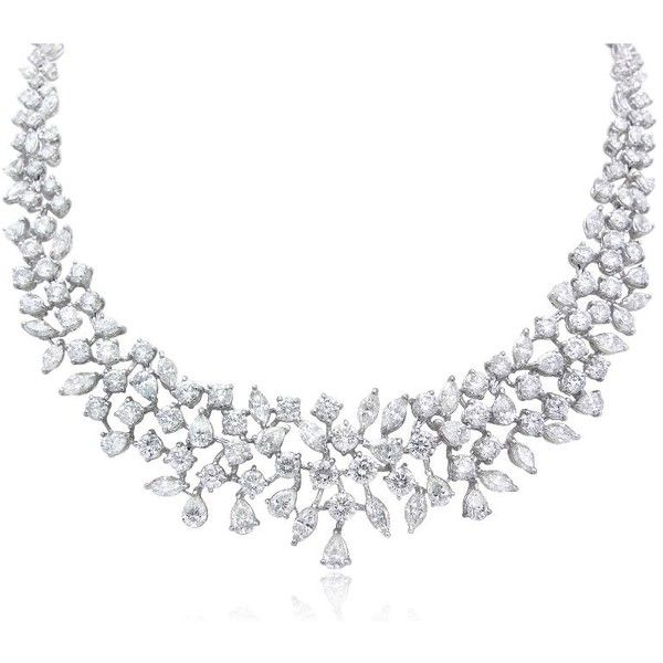 29.59ct Diamond Platinum Necklace ($92,930) ❤ liked on Polyvore featuring jewelry, necklaces, accessories, platinum necklace, diamond jewelry, diamond jewellery, diamond necklaces and round necklace