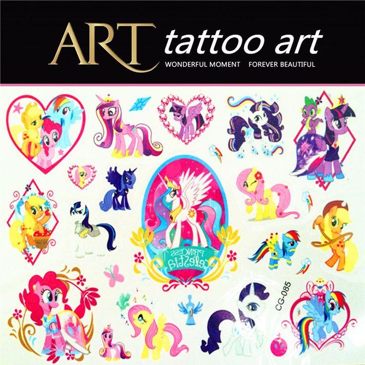 1 Lembar Stiker Tato My Little Pony Mainan Kuda Untuk Anak-anak Anak-anak Pesta Ulang Tahun Perlengkapan Dekorasi poni Pasta Tatoo