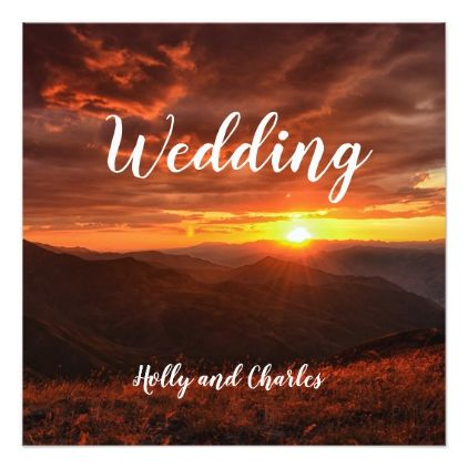 Wedding Invitation. Beautiful Sunset Theme. Card - marriage invitations wedding party cards invitation