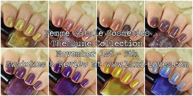 Femme Fatale Cosmetics The Dune Collection nail polish swatches & review