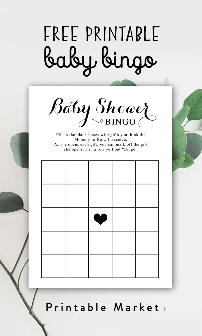 This free printable baby shower game is so much fun! Have each guest fill in the gifts they think the mom to be will receive. Five in a row wins!