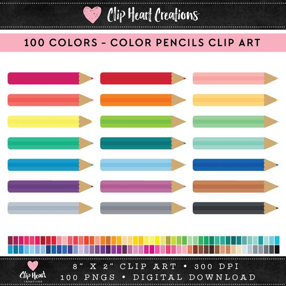 100 colored pencils Clipart, Commercial use, PNG, Digital clip art, Digital images, Rainbow digital scrapbooking clip art, school, school supplies, coloured pencils, back to school clipart  Great for scrap booking, cards, stickers, cupcake toppers, gift wrap, gift tags, invitations, fabric, web graphics - or anything that you can think of. 100 COLORS  DETAILS :::::::::::::::::::::::::::::::::::  ♥ This collection includes 100 individual clip art elements ♥ PNG format with transparent…