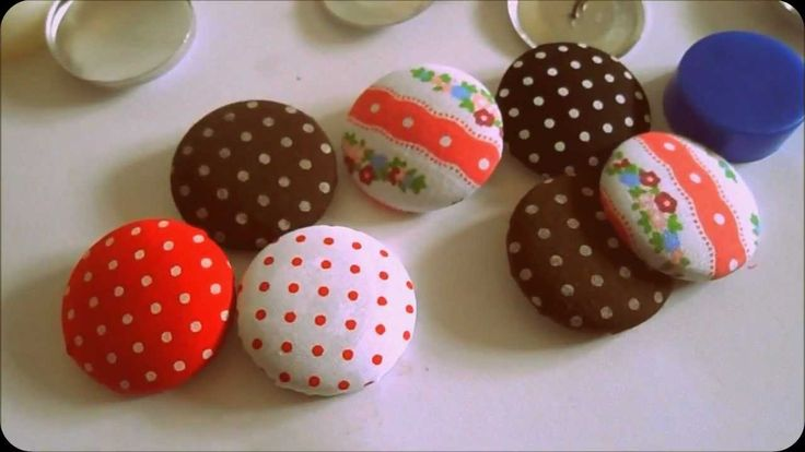 Make Cute Fabric Buttons with me (DIY buttons)~