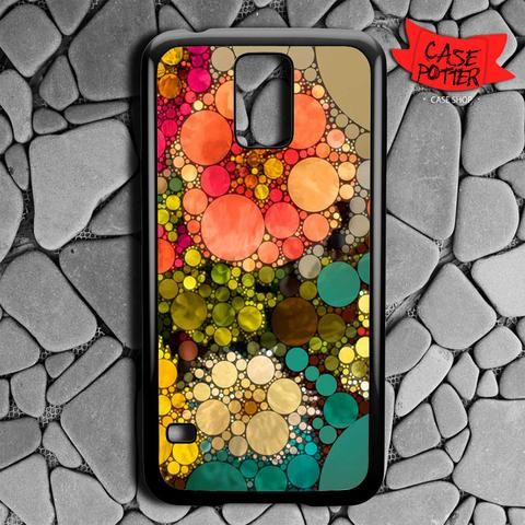 Pattern Round Full Color Samsung Galaxy S5 Black Case