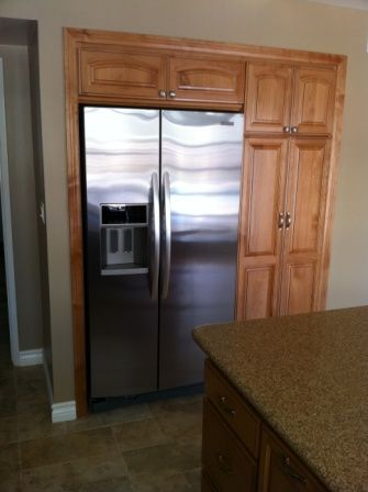 Wall Recessed Fridge Kitchen Remodel Ideas In 2019