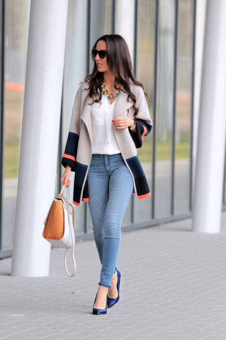 Style and Blog - Fashion, lifestyle Colorblock sweater coat