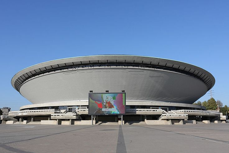 The Katowice Spodek - venue for the Rawa Bluesfest. Direct flights from East Midlands airport Nottingham to Krakow Poland 50 miles from Katowice.