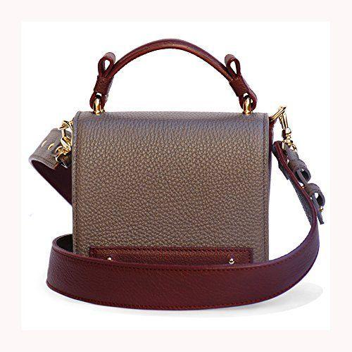 Crossbody Mini Bag Qualità Italiana nelle borse in vera pelle Ganza by Amazon