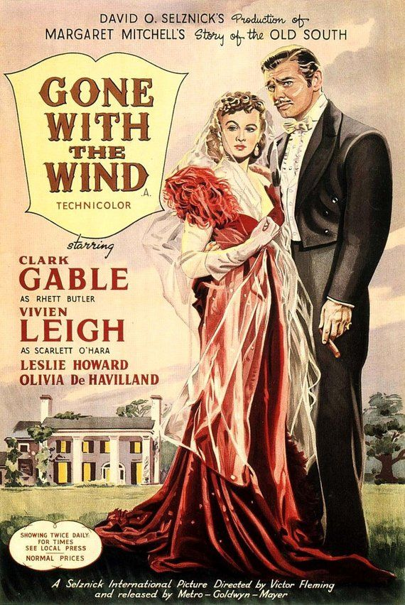 Gone with the wind –Classic film poster (777)