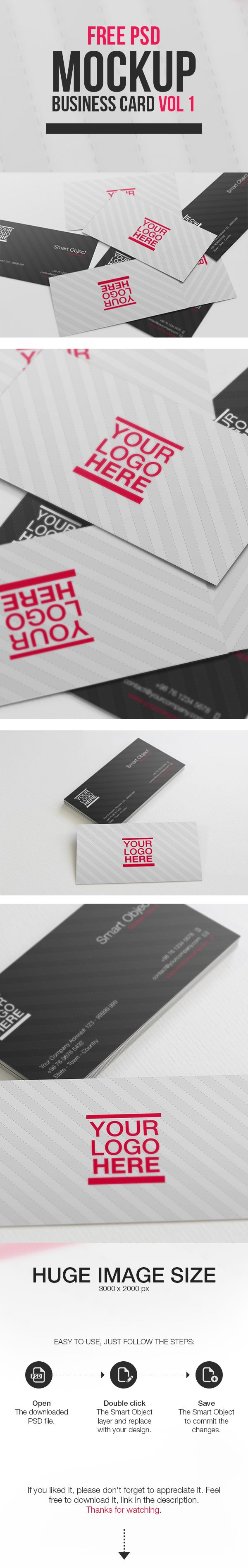 Free PSD Mockup - Business Card Vol 1 on Behance