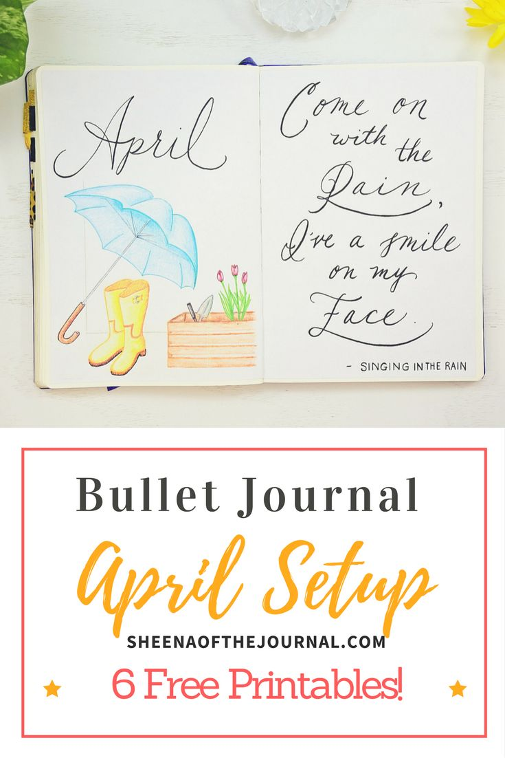 Showing you how I plan for the month ahead using a Bullet Journal. Plus, a Free April planning pack!