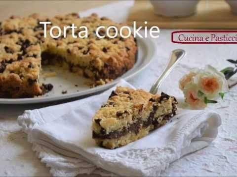 Torta cookies con cuore di nutella - YouTube
