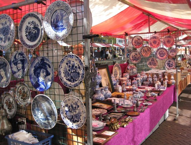 If you love antique markets, you'll love the open-air Antique Market in Delft, an historic town situated between The Hague and Rotterdam in the Netherlands. Held every Saturday between mid-April and mid-September along the canals of Delft, the Antique Market has hundreds of stalls selling all sorts of antiques (Delft Blue porcelain is popular), jewellery, books, paintings and countless other items