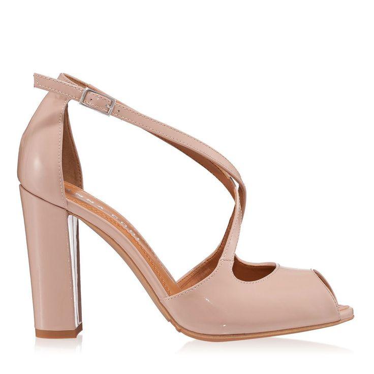 Sandale Dama Nude 4290 Piele Lacuita