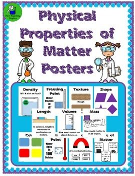 Physical Properties Anchor Posters for Bulletin BoardCreate a reference center for the different physical properties of matter.  Having access to visuals will encourage participation from even the most reluctant students. These anchor posters can even be printed smaller and used to create interactive walls.