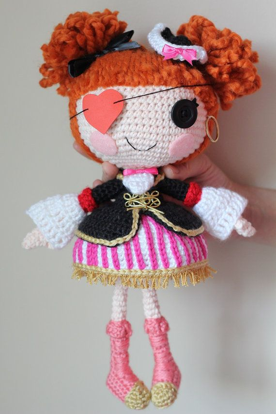 PATTERN: Lalaloopsy Peggy Seven Seas Crochet Amigurumi Doll