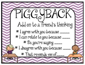 These adorable Accountable Talk Posters will be perfect on any bulletin board. It is a great reference for students when working within a collaborative group. This set includes 7 posters that will help students understand the expectations when working in collaborative groups. Each poster includes sentence starters to help students find the appropriate language to collaborate successfully in a group.