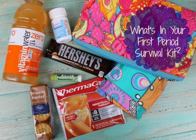 Are you a tween or teen worried about getting their period? No worries! Just make sure you create your first period survival kit and you are all set!