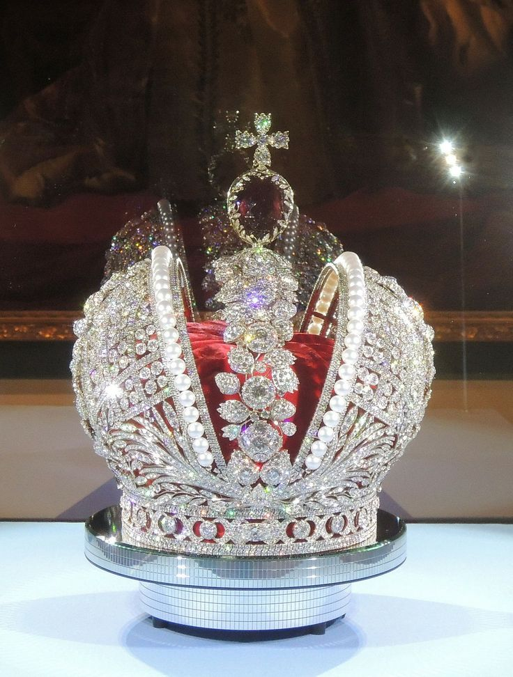 TheImperial Crown of Russia, also known as theGreat Imperial Crown, was used by theEmperorsofRussiauntil themonarchy's abolition in 1917. The Great Imperial Crown was first used in acoronationbyCatherine II, and was last used at the coronation ofNicholas II. It survived the subsequent revolution and is currently on display in theMoscowKremlin ArmouryState Diamond Fund.