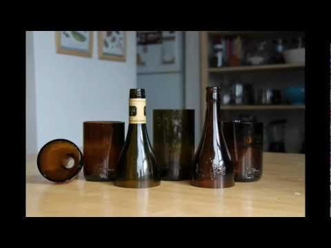 how to make drinking glasses out of empty beer or wine