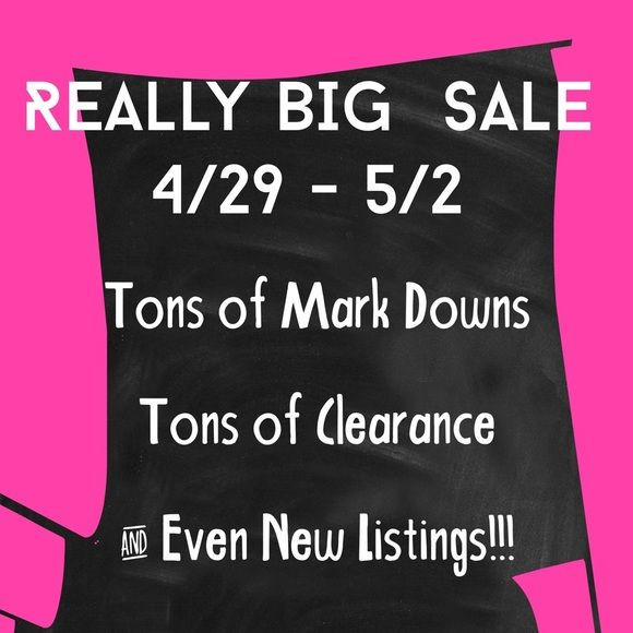 Mark Downs Start 1:00 pm EST Can't wait for the Really Big Sale this weekend? Make an offer today!  I will be putting sale prices on items not already at low low prices. And my bundle discount will still apply!  This is the Really Big Sale!  Other