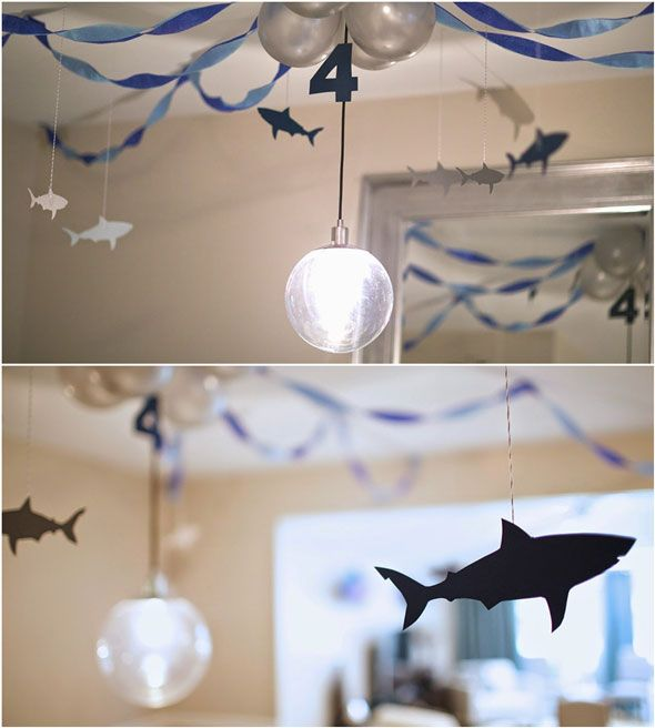 This Sweet Shark Birthday Party will have your little surfer saying thumbs up dude!