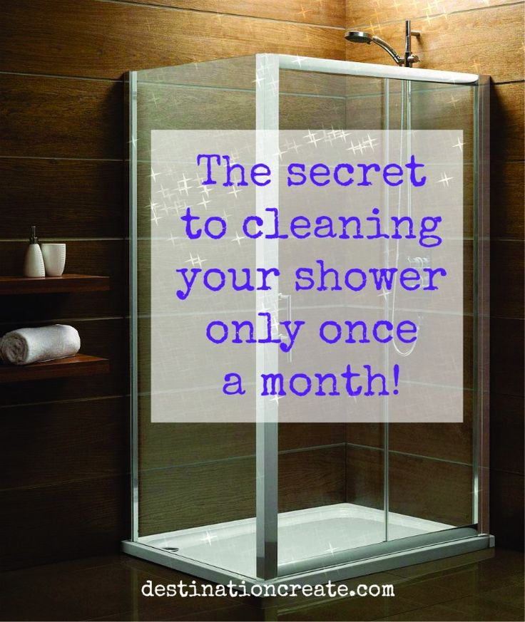 Would you like your shower to look clean without scrubbing it for 4-8 weeks? Wow, do I have a tip for you!
