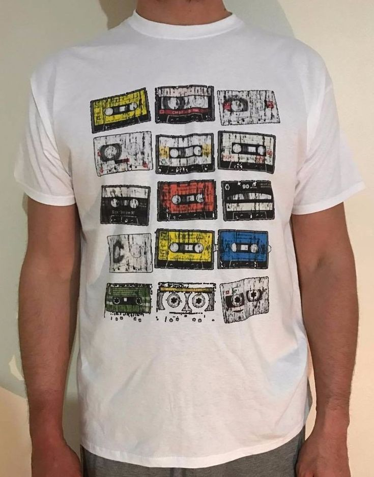 Vintage Style Cassette t-shirt, Men t-shirt #80sRETRO #CASUALWEAR