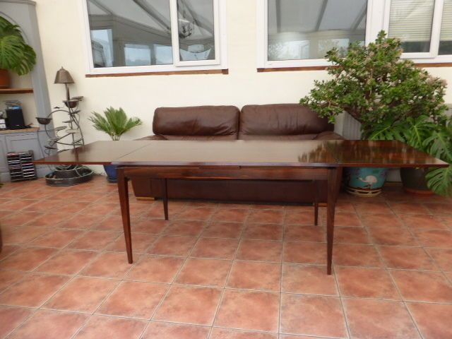 1960,S CHRISTIAN LINNEBERG ROSEWOOD DINING TABLE EXTEND TO 8FT 5 FREE SHIPPING