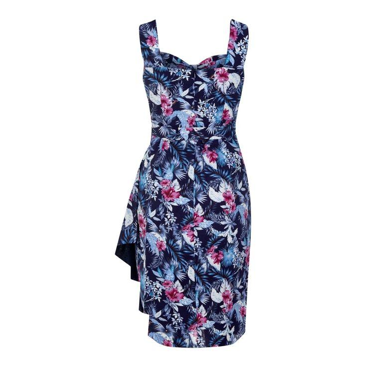 Tallulah Maui Hibiscus Sarong Dress