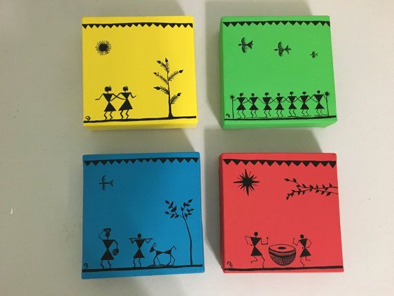warli art by Creativemorning on Etsy