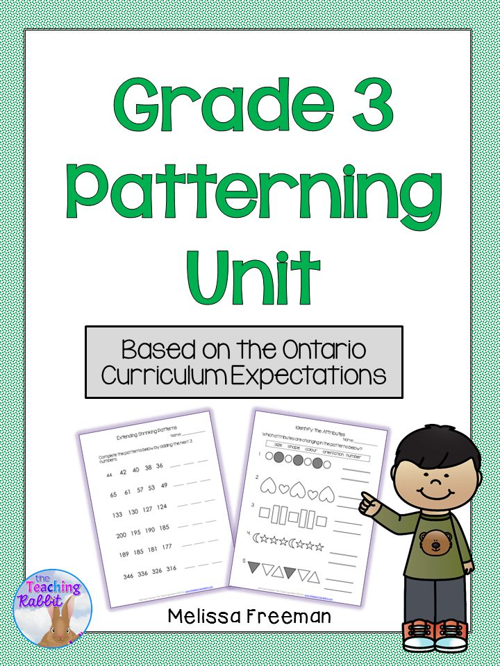 patterning unit for grade 3 ontario curriculum the teaching rabbit 39 s educational resources. Black Bedroom Furniture Sets. Home Design Ideas