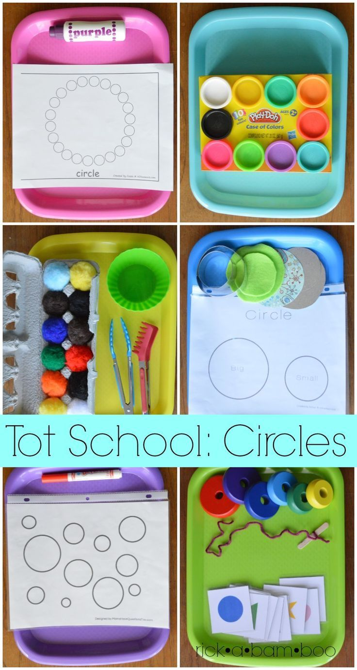 Fun activities to expose your toddler to the concept of circles. | Preschool | Tot school | Tot trays | Shapes | Toddler Learning | Learning through play