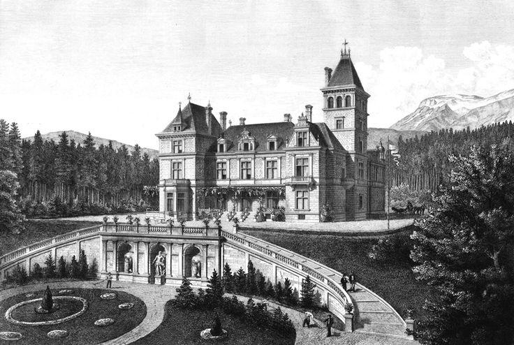 Villa Sr. kais. Hoheit Erzh. Karl Ludwig in Reichenau; Perspektivische Hauptansicht