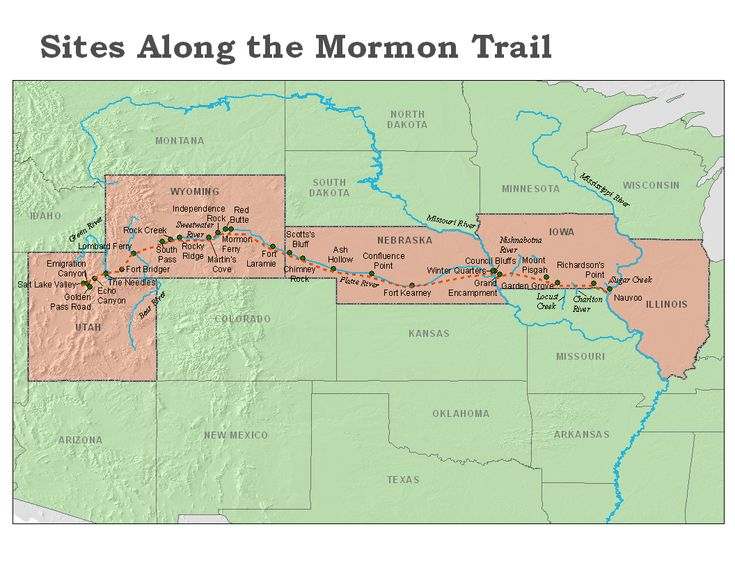 physical activity lesson.  Track your exercise with this map of the Mormon Pioneer trail.  How long will it take YOU to get to the Salt Lake Valley