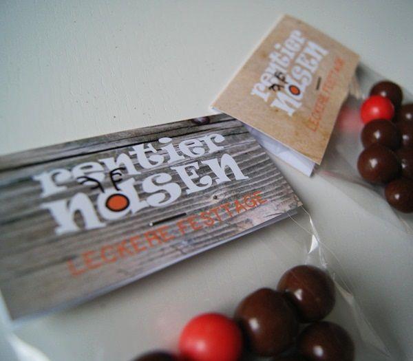 Rentiernasen - Etiketten Freebie