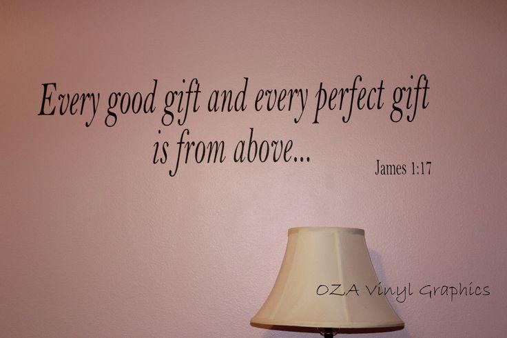 Vinyl Wall Words Bible Verse James 1:17