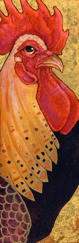 Klimt's Rooster by ursulav.deviantart.com on @deviantART