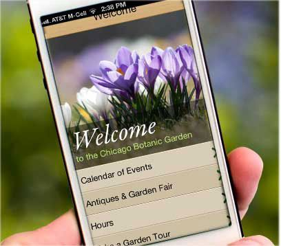 http://www.chicagobotanic.org/app/ GardenGuide from the Chicago Botanic Garden is the first app in country that brings a botanic garden's plant collections database to life.