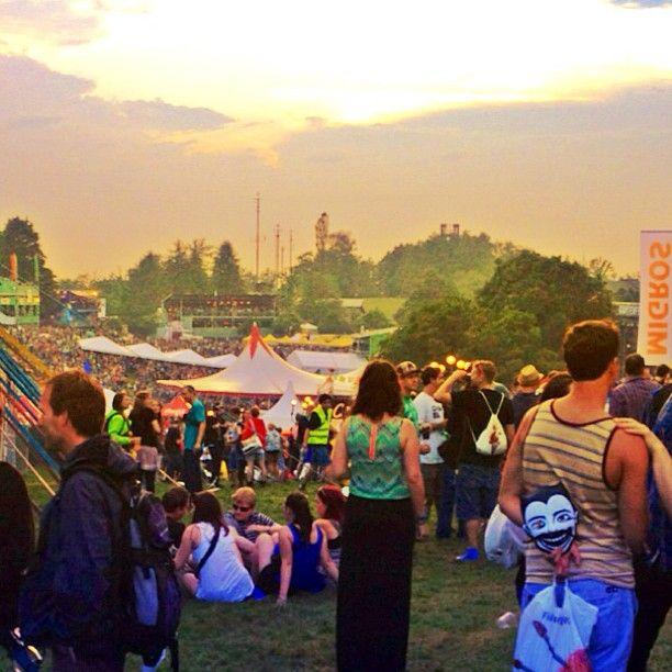 .@jasminnovak | #openair #gurten #2013 #sunset #festival