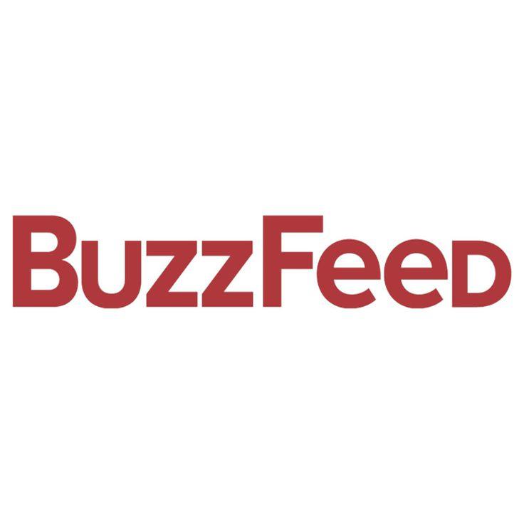 buzzfeed logo red on white crewneck sweatshirt