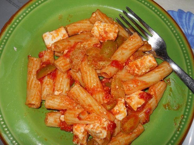 """La Ricetta di questa settimana per il Mercoledi Veg è tratta dalla ricetta """"Pasta con Tofu ed olive"""" da VeganBlog.it"""