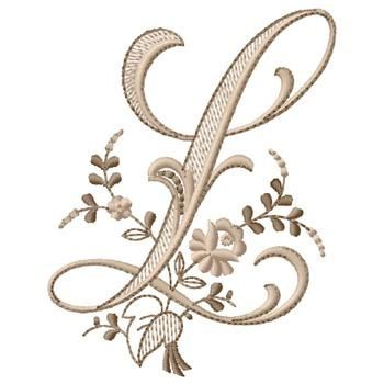 Monogram L embroidery design  $5