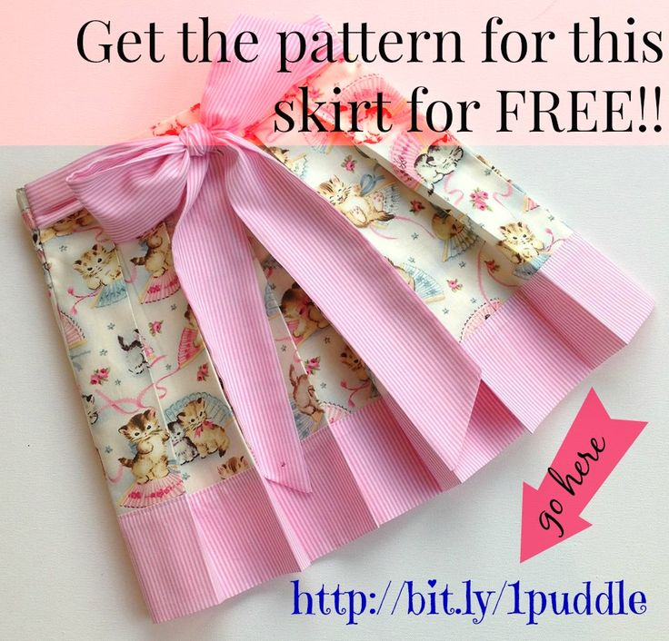 GRAB this FREE pattern for Molly Skirt for girls #DIY #pattern #sewing