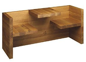 table bench. this is a really neat idea for a small space! Maybe a good DIY project? I'd add a little leg room. :)
